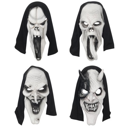 Loftus Assorted Haunted Horror Creature Face Mask, White Black, One Size - Horror Face Mask