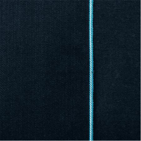 Navy Block - Black Navy Cotton Japanese Selvedge Bull Denim, Fabric By the Yard