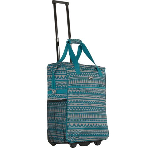 Calpak 'Big Eazy' Blue Rivera 20-inch Washable Rolling Shopping Tote Bag
