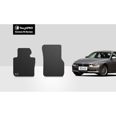 ToughPRO - BMW 328i Two Front Mats - All Weather - Heavy Duty - Black Rubber - 2013 ()
