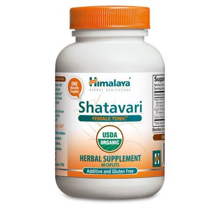 Himalaya Herbals Organic Shatavari for PMS & Irregular Menstrual Cycle, 1300mg, 60 Ct