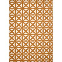 """Mainstays Bright Eyed Suzy Orange/White 45""""x66"""" Geometric Indoor Area Rug"""