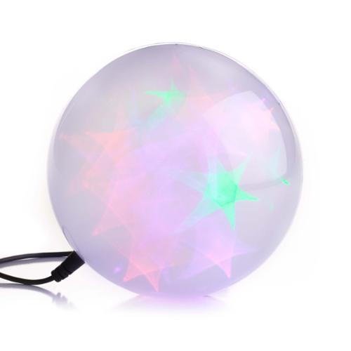 "S4 Lights 36 Light Multicolor Battery Operated LED 6"" Holographic Starfire Sphere Christmas Light"