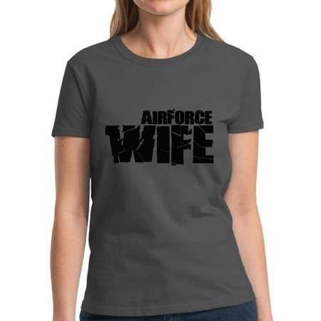 Air Force Wife Womens T-shirt (Mezee Airforce Wife Tshirt for Women Valentine's Day Gifts for Her Proud Airforce Wife Tshirt Airforce Shirts Women's Valentine's Day Outfit Valentine Shirt Cute Valentine's Day Gifts for)