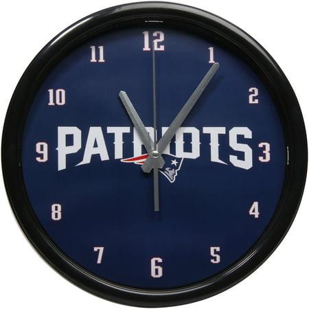 New England Patriots Clock (New England Patriots Black Rim Basic Clock - No Size)