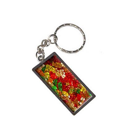 Gummy Gummi Bears Metal Rectangle Keychain](Gummy Bear Keychain)