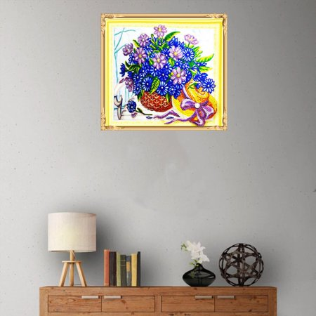 HZ010 Flower Basket Diamond Painting Embroidery Cross Kit Home Decoration - image 4 of 6