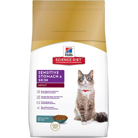 Hill's Science Diet (Get $5 back for every $20 spent) Adult Sensitive Stomach & Skin Rice & Egg Recipe Dry Cat Food, 7 lb bag - Halloween Egg Recipes