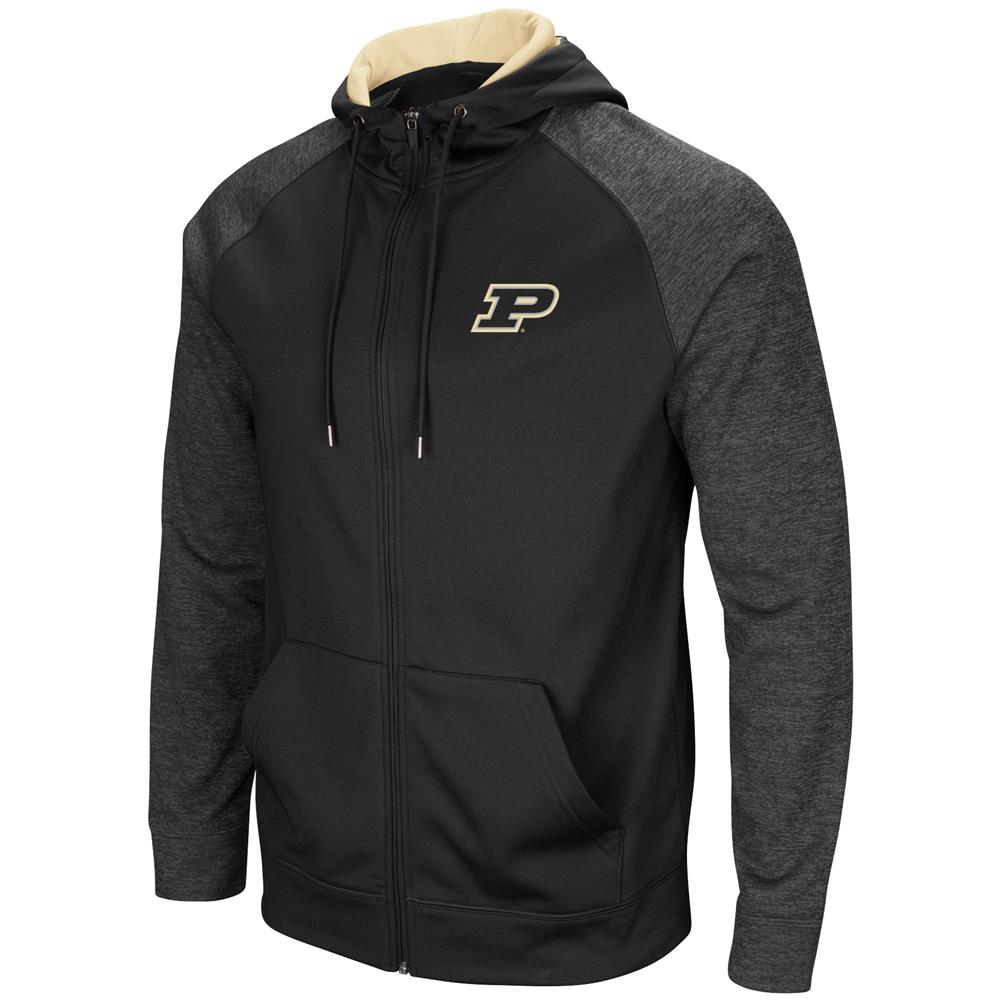 Purdue University Men's Full ZipHoodie Fleece Jacket by Colosseum