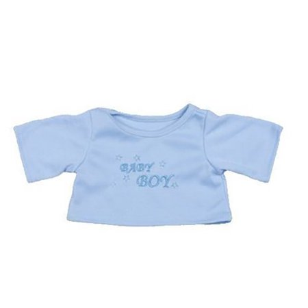 """Baby Boy T-Shirt Teddy Bear Clothes Fits Most 14""""-18"""" Build-a-bear and Make Your Own Stuffed Animals"""