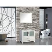 "Argentina 30"" Single Sink Bathroom Vanity Set, White"