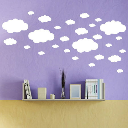 Cloud Wall Decals - 27pcs DIY Clouds Wall Decals Children's Room Home Decoration Art