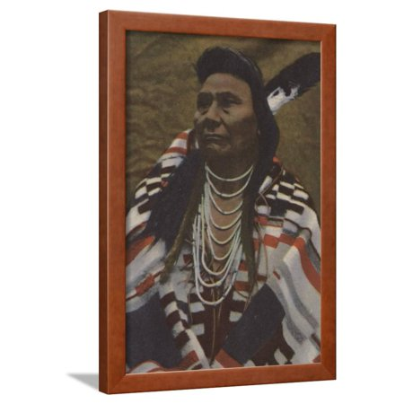 Haida Indian Art - Northwest Indians - Chief Joseph of the Nez Perces Tribe Framed Print Wall Art By Lantern Press