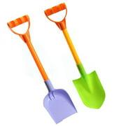 2PCS Shovel Toys Plastic Spade Beach Toys Sand Toys with Mesh Bag for Kids