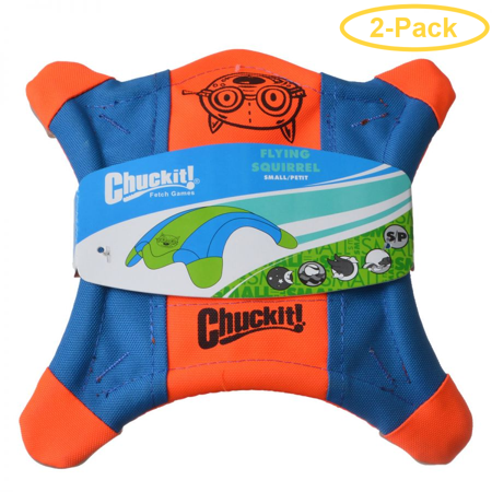 Chuckit Flying Squirrel Toss Toy Small - 9 Long x 9 Wide - Pack of 2