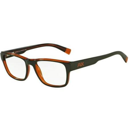 1140cd38277 ARMANI EXCHANGE Eyeglasses AX 3018 8142 Army Green Pumpkin Spice  Transparent 53MM - Walmart.com