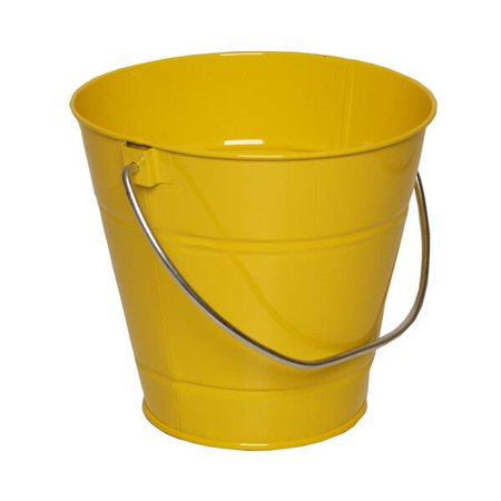 JAM Paper Metal Pail Bucket, Small, 3 3/4