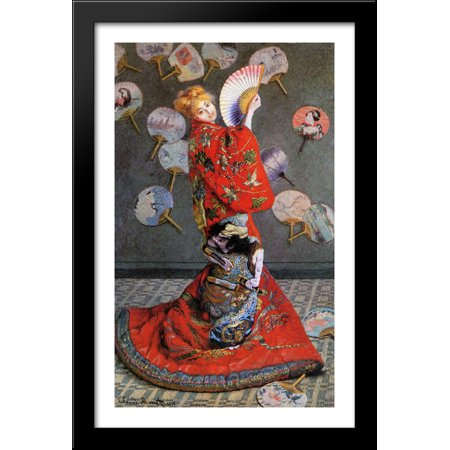 Japan's (Camille Monet in Japanese Costume) 26x40 Large Black Wood Framed Print Art by Claude - Nba Costumes