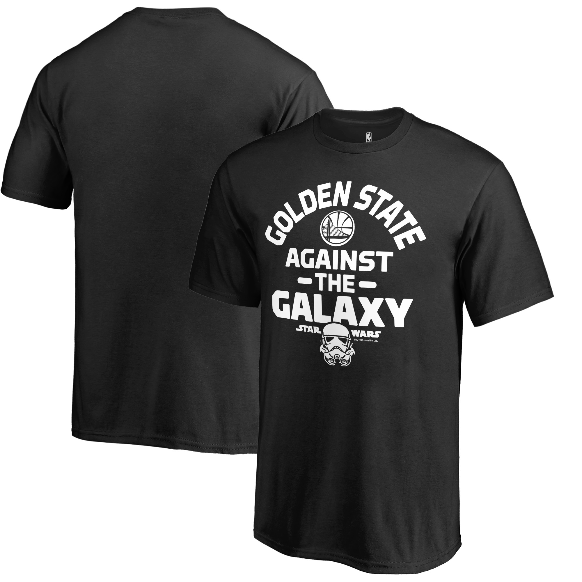 Golden State Warriors Fanatics Branded Youth Star Wars Against the Galaxy T-Shirt - Black
