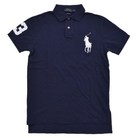 Ralph Lauren Halloween Polo (Polo Ralph Lauren Men's Big Pony Custom Fit Mesh Polo Shirt (M,)