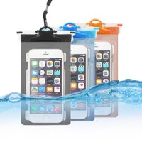 """waterproof case Multifunction CellPhone Dry Bag Pouch with Armband Feature & Neck Strap fits all smartphones up to 6.0"""" diagonal size for iPhone, Samsung,Google, Huawei (3-pack)"""
