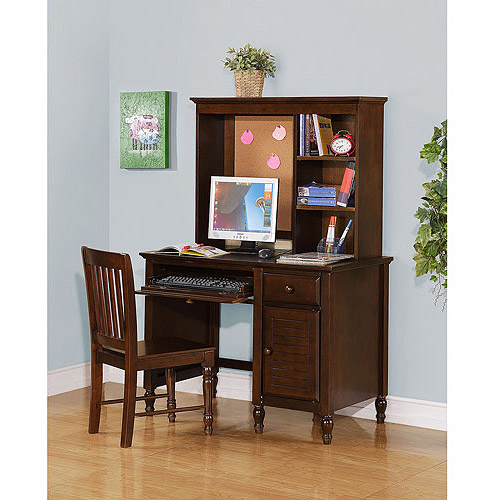 Kylie Collection Desk with Hutch and Chair Value Bundle, Espresso