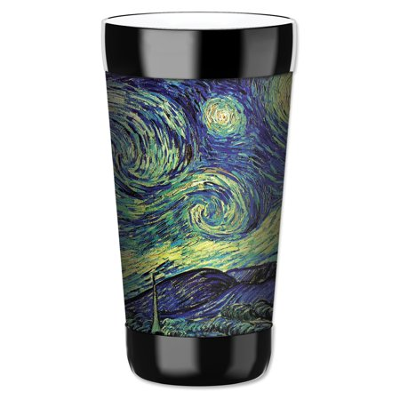 Mugzie 16-Ounce Tumbler Drink Cup with Removable Insulated Wetsuit Cover - Van Gogh: Starry