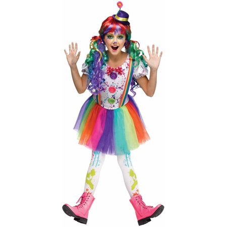 Crazy Color Clown Child Halloween Costume