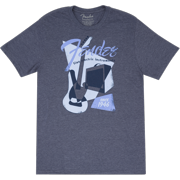 Fender Musical Instruments Vintage Geo 1946 Blue T-Shirt Size Small #9125002306