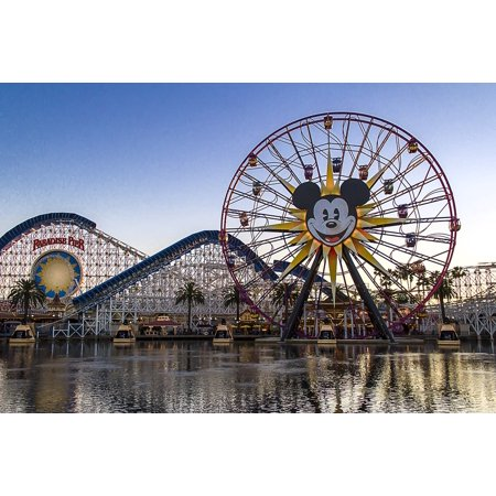 LAMINATED POSTER Adventure Park Mickey Mouse California Ferris Wheel Poster Print 24 x 36