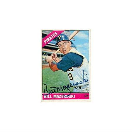 Bill Mazeroski Autographed Signed 1966 Topps No210