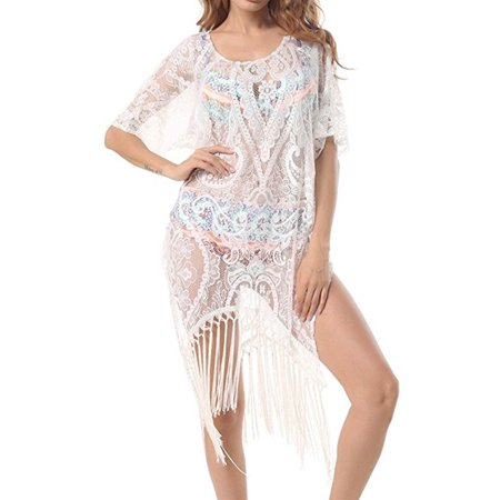 91fe6ff144 Sexy Dance - Women's Bathing Suit Lace Crochet Tassel Bikini Swimsuit  Swimwear Beachwear Cover Up Beach Dress - Walmart.com