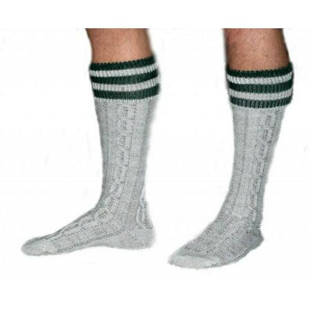 Long Embroidered Wool German Lederhosen Socks Cream / - Lederhosen Socks
