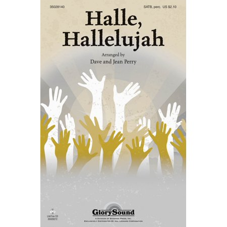 Shawnee Press Halle, Hallelujah! SATB, ACCOMP WITH OPT. PERCUSS arranged by Dave and Jean (Denim 123)