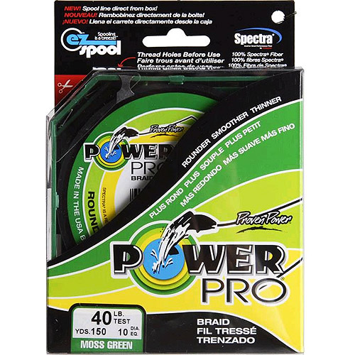 Power Pro Fishing Line - Moss Green, 150 yards, 40 lbs