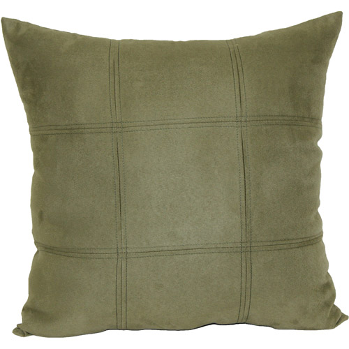 Mainstays Leaf Green Suede Decorative Pillow, Green