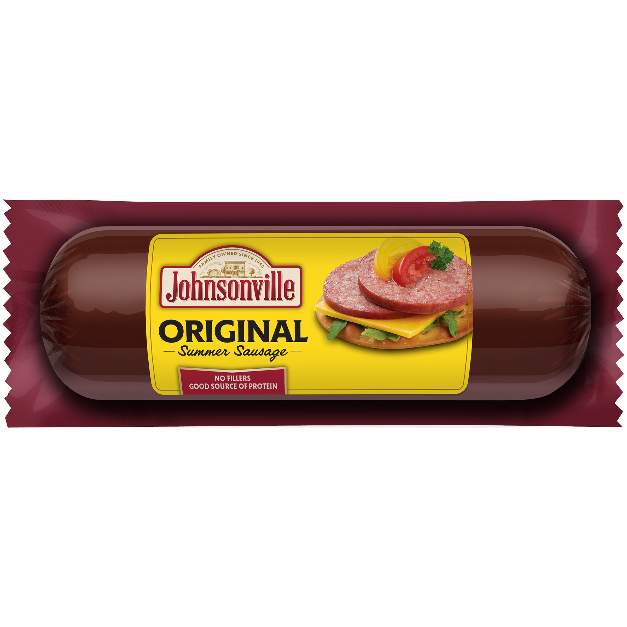 Johnsonville Original Summer Sausage 12oz chub (101442)