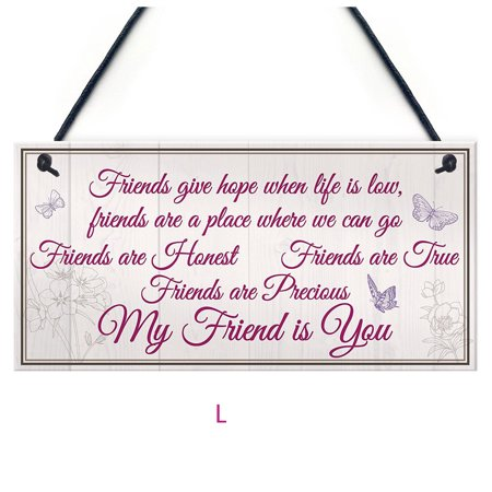 - Mosunx Wooden Hanging Gift Plaque Pendant Family Friendship Love Sign Wine Tags Decor
