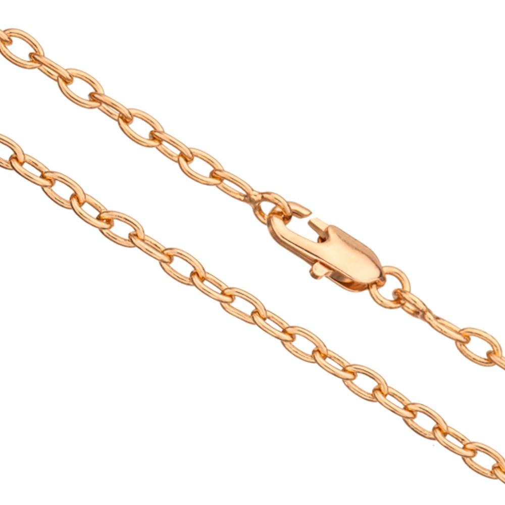 24Inch Necklace Gold Cable Chain With Lobster Claw Clasp 2pcs/pack