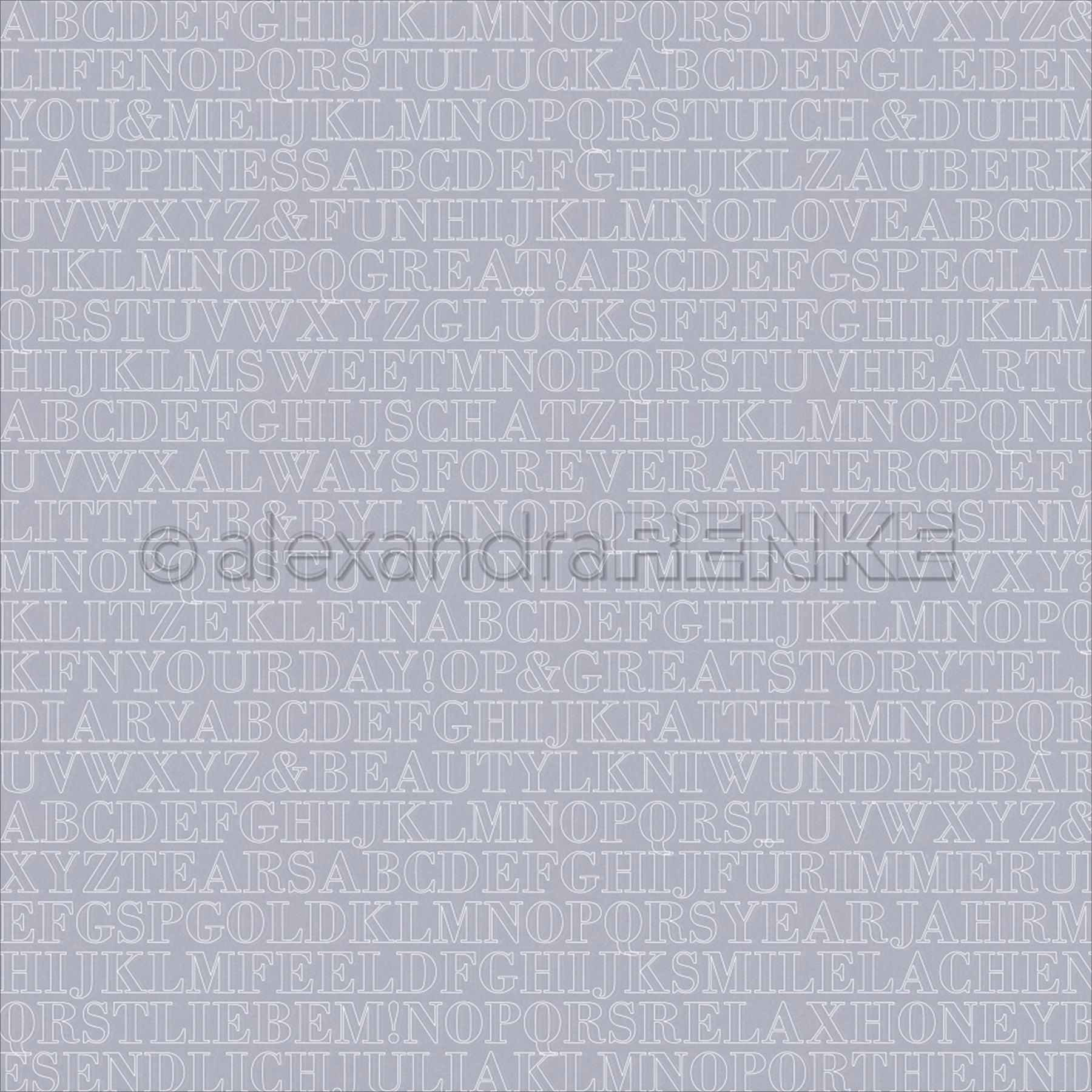"Alexandra Renke Travel Design Paper 12""X12""-Transparent Letters"