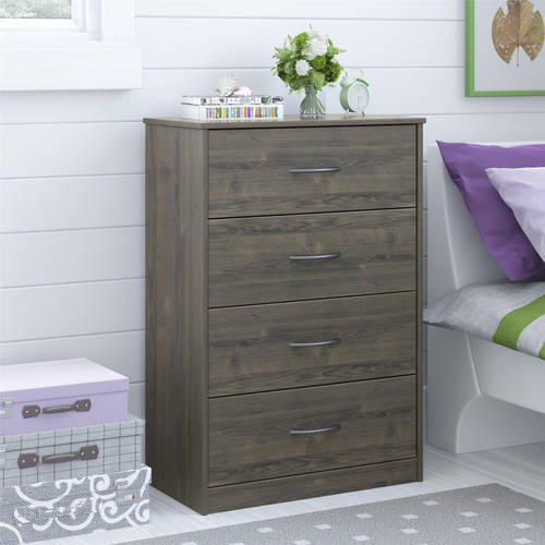 Mainstays 4-Drawer Dresser, Multiple Finishes by Ameriwood