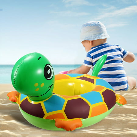 Cute Tortoise Baby Inflatable Swim Ring Pool Raft Chair Seat Float Ring Water Fun Toy Gift Outdoor Play PVC ()