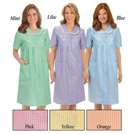 a543d8533b4c Bigbolo - Floral Gingham Print Pocket Lounge Robe-Misses-XX-Large-Yellow -  Walmart.com