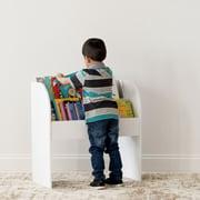 IRIS USA Kid's Wooden Bookshelf, 2 Shelf, Multiple Colors