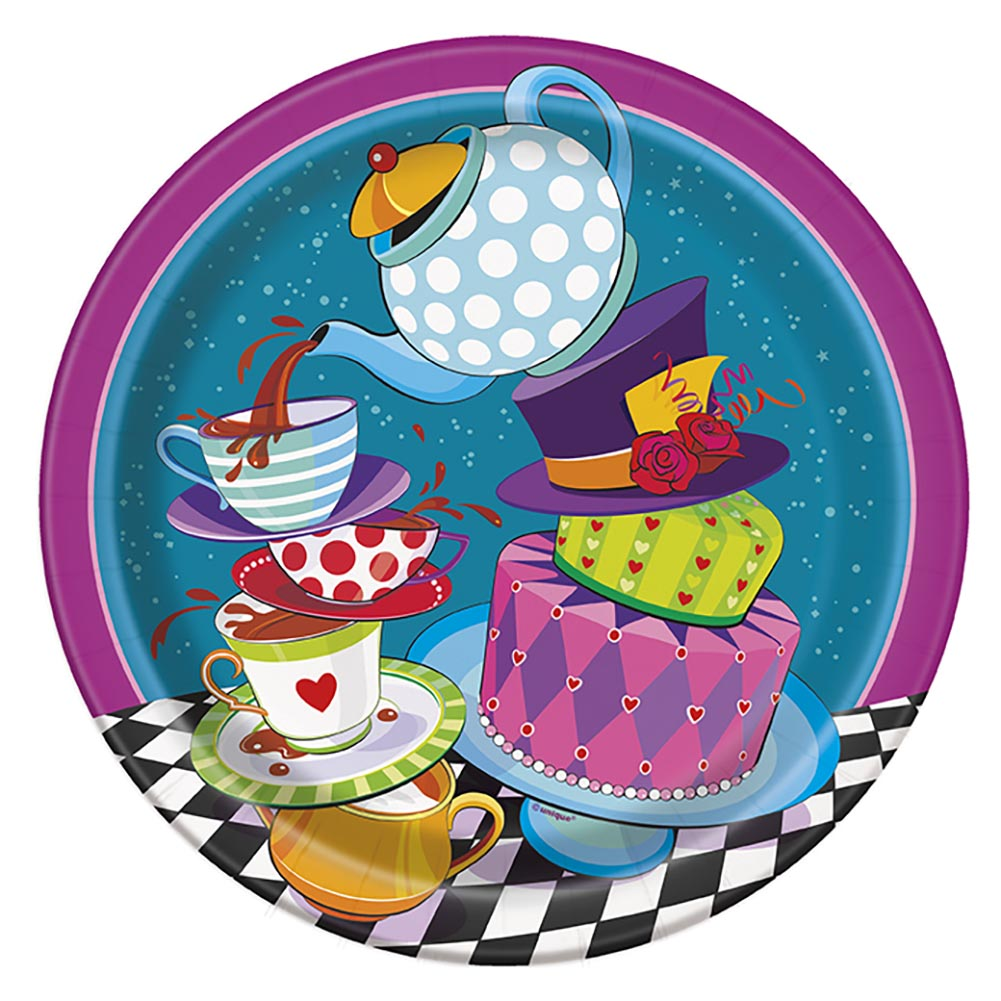 "9"" Alice in Wonderland Tea Party Plates, 8ct"