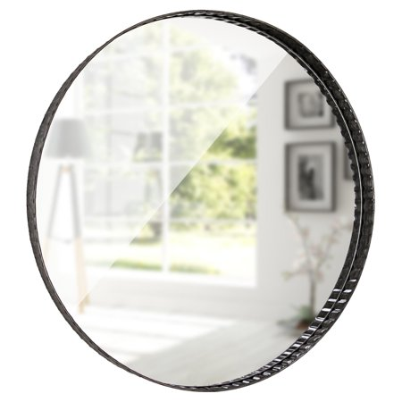 American Art Decor Galvanized Metal Round Mirror 22