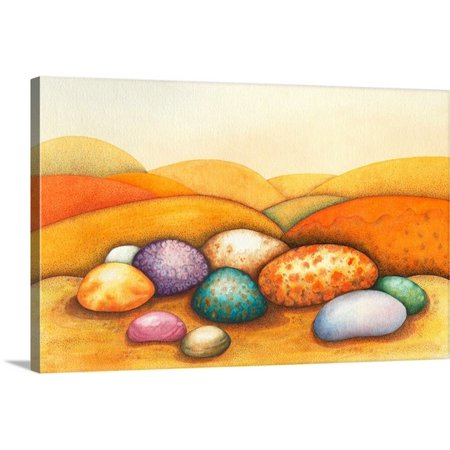 Great BIG Canvas Sandra Moore Premium Thick-Wrap Canvas entitled Pebbles, 2012 - Ac Moore Canvas
