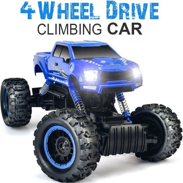 Double E 1 12 Rc Cars Monster Truck 4wd Dual Motors Rechargeable Off Road Remote Control Truck Blue Walmart Com Walmart Com