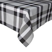 """Mainstays Oversized Plaid Tablecloth, 52""""W x 70""""L, Black, Available in Multiple Sizes and Colors"""