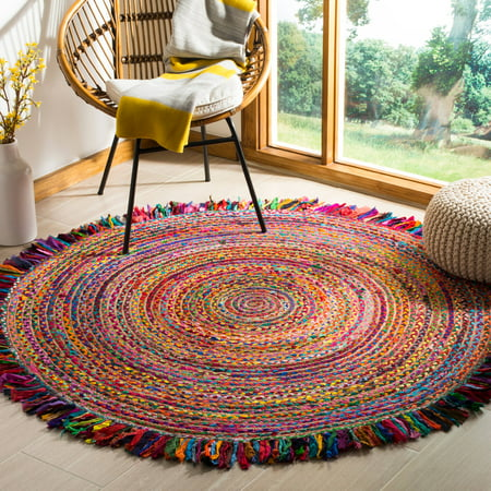 Safavieh Cape Cod Victoria Braided Area Rug (Round Rugs For Living Room)